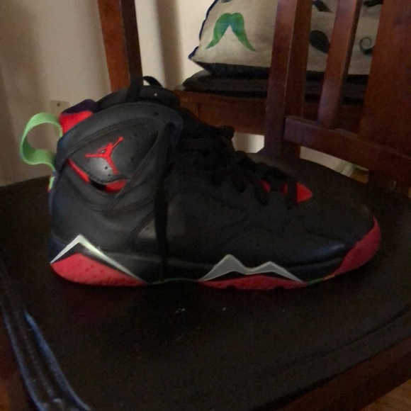 online store 491dd b3ab4 Black and red Jordan 7s